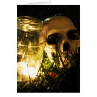 Skull Fire Card
