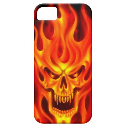 Skull Fire - iPhone 5 Case
