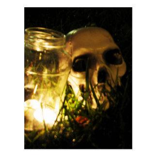 Skull Fire Postcard