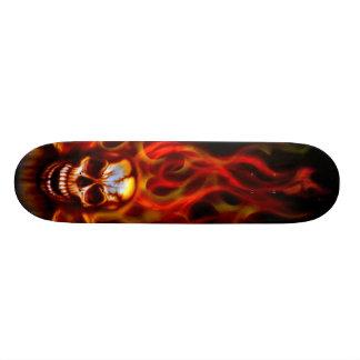 Skull Fire Skate Deck