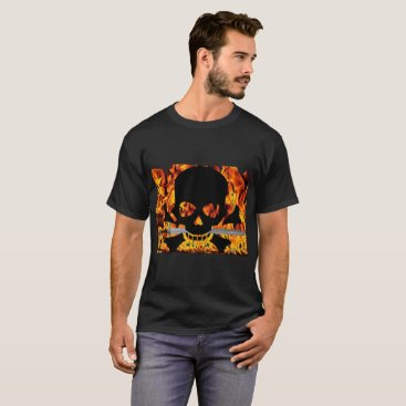 Halloween Themed SKULL FIRE T-Shirt