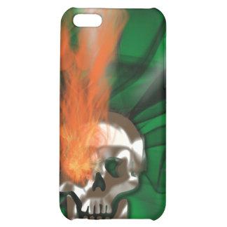 Skull flames design iPhone 5C cases