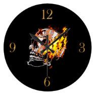 Skull & Flames Gothic Fantasy Wall Clock