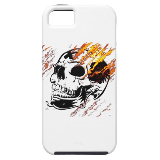 Skull & Flames Gothic iPhone Case