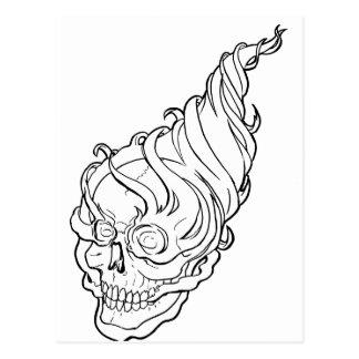Skull-Flames Postcard