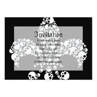 Skull Fleur De Lis Card