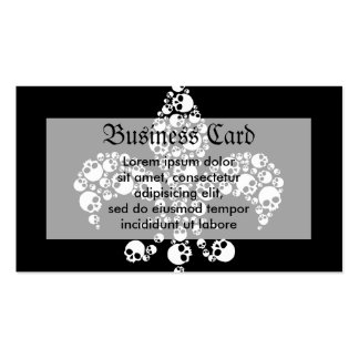 Skull Fleur De Lis Double-Sided Standard Business Cards (Pack Of 100)