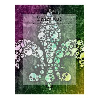 Skull Fleur De Lis Letterhead