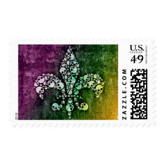 Skull Fleur De Lis Stamp