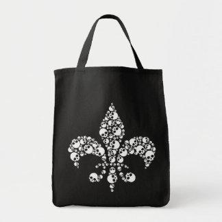 Skull Fleur De Lis Tote Bag