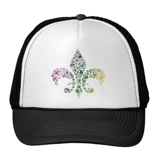 Skull Fleur De Lis Trucker Hat