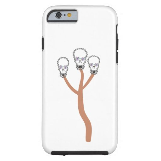 Skull flower butterfly     best,aliasghar,Skull,fl Tough iPhone 6 Case