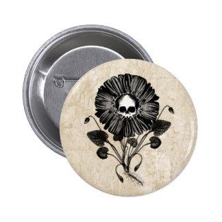 Skull Flower Button