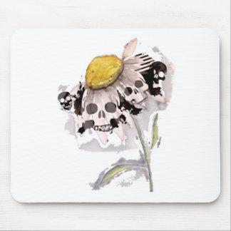 Skull Flower Mouse Pad