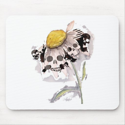 Skull Flower Mousepads