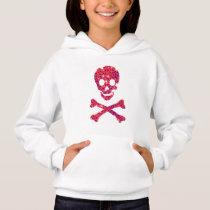 skull flower pattern hoodie