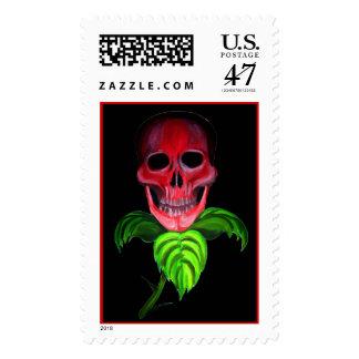 Skull Flower Stamp