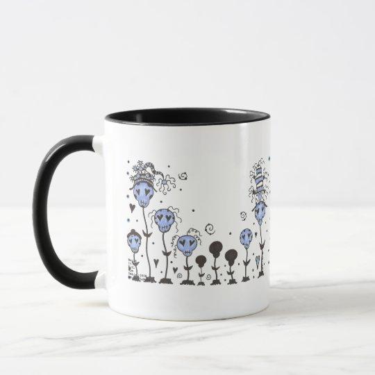 SKuLL FLoWeRs ~BLuE Mug