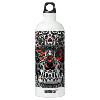 Skull Flowers Water Bottle
