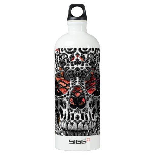 Skull Flowers Water Bottle
