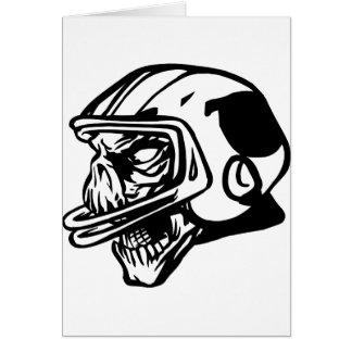 Skull Football Player Card