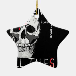 Skull forensic science CSI dead men Christmas Tree Ornaments