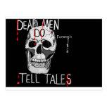 Skull forensic science CSI dead men Postcard