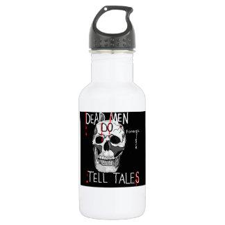 Skull forensic science CSI dead men Stainless Steel Water Bottle