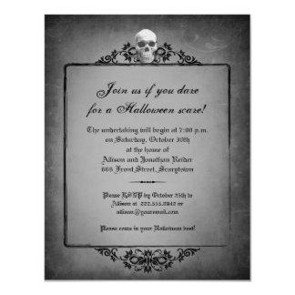 Skull Frame Halloween Invitation