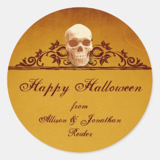 Skull Frame Halloween sticker