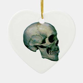 Skull From Profile Ceramic Ornament