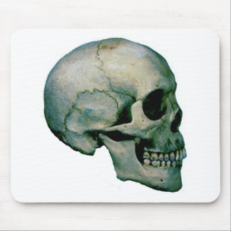 Skull From Profile Mouse Pad
