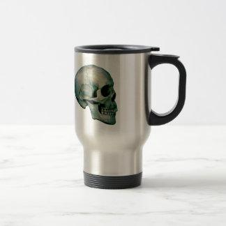 Skull From Profile Travel Mug
