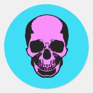 Skull Frontal Round Sticker