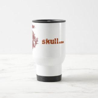 skull full layout 15 oz stainless steel travel mug