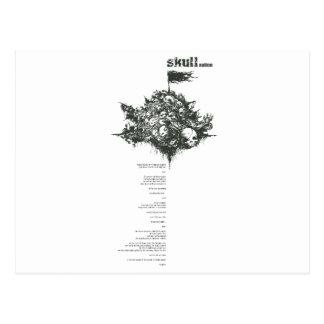 skull full layout postcard
