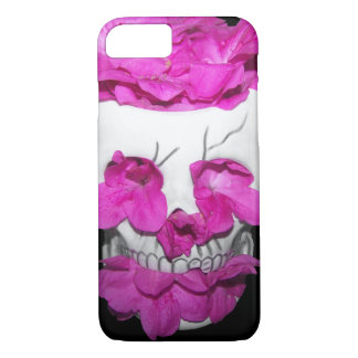 Skull Full of Pink Flowers iPhone 7 Case