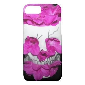 Skull Full of Pink Flowers iPhone 8/7 Case