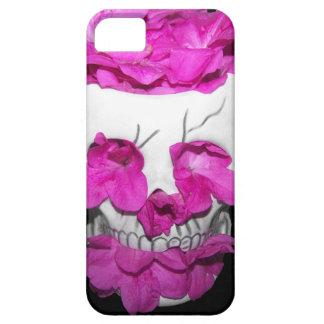 Skull Full of Pink Flowers iPhone SE/5/5s Case