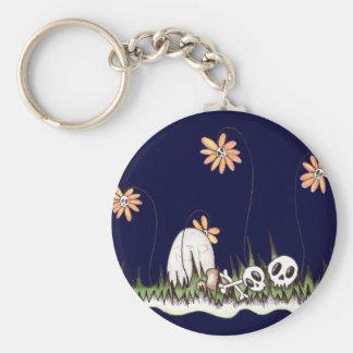 Skull Garden Keychain
