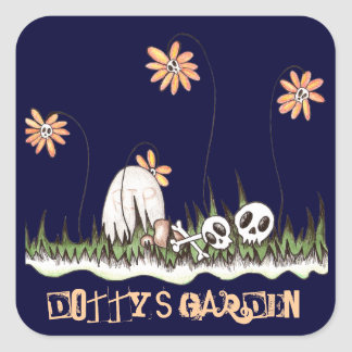 Skull Garden Square Sticker
