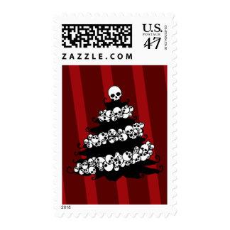 Skull Garland Christmas Tree Stamp