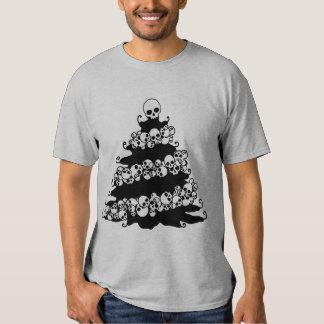 Skull Garland Christmas Tree T Shirts