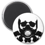 skull-gas-mask-bones 2 inch round magnet