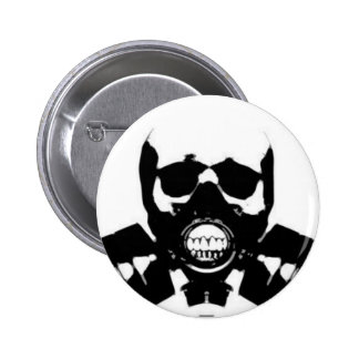 skull-gas-mask-bones pinback button