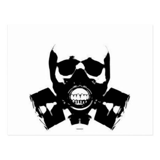 Graffiti Gas Mask Skull Bones Post Pictures