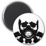 skull-gas-mask-bones refrigerator magnet