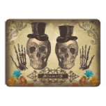 🎃 Skull gay couple Victorian Gothic Wedding Invite