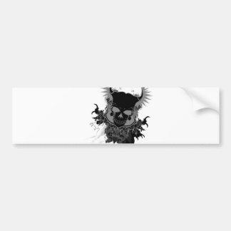 Skull Gear Bumper Sticker