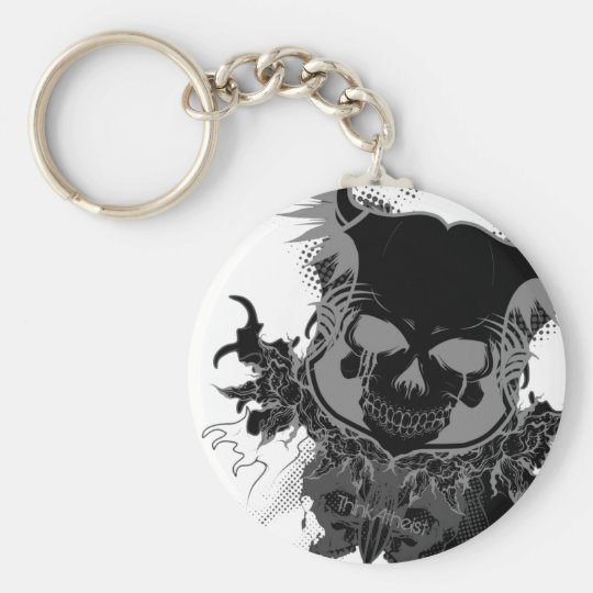Skull Gear Keychain